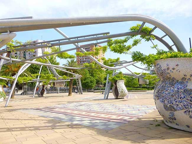 Parque de los toboganes de Diagonal Mar